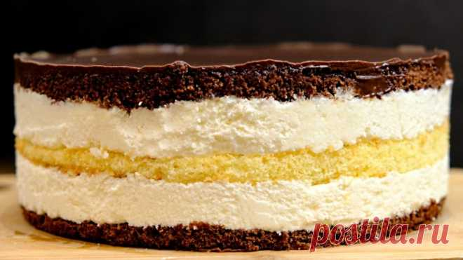 Этот торт не забуду никогда! Торт Птичье молоко с кремом из манки — Кулинарная книга