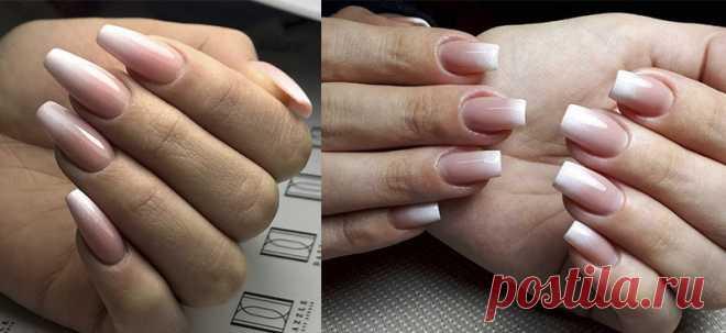 Маникюр Бэби Бумер | Дизайн ногтей с френч градиентом Baby Boomer фото и видео-инструкции