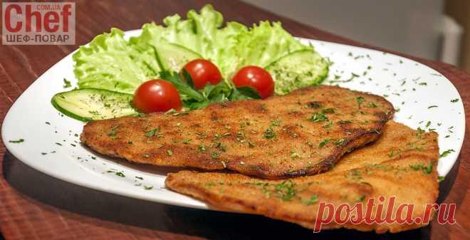 Венский шницель из свинины / Мясные блюда / Рецепты / Шеф-повар – простые и вкусные кулинарные рецепты, фото-рецепты, видео-рецепты