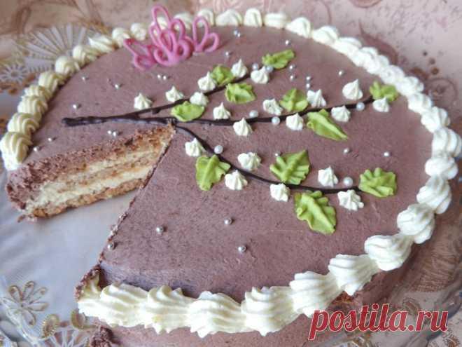 фото рецепт торта лакомка цветки