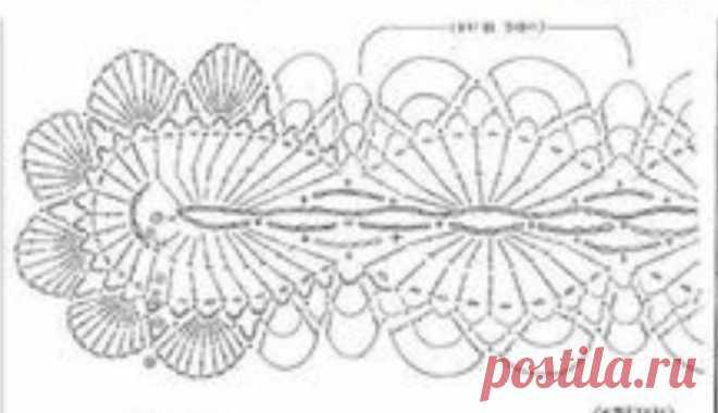Узор.  Схема узора вязания крючком  Этот узор очень хорошо для вязания шарфов, ободков, повязок, поясов