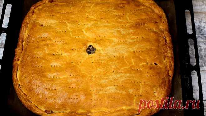 Пирог с мясом и картофелем из вкусного песочного теста.Простой рецепт. | Ох и вкусно | Яндекс Дзен