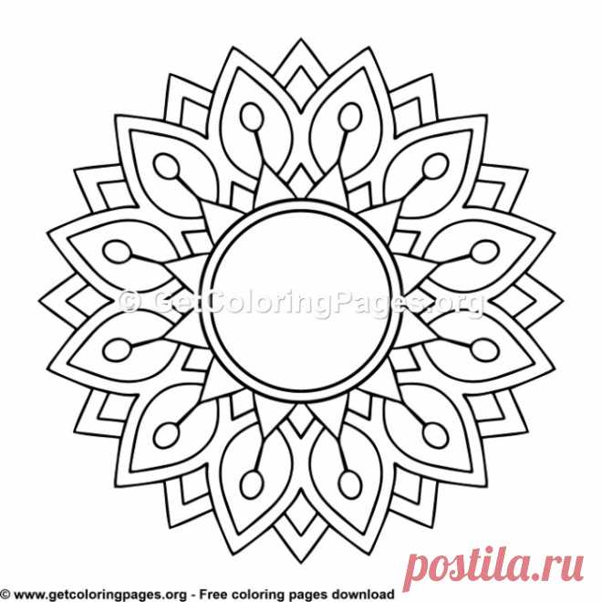 Ethic Style Mandala 5 Coloring Pages – GetColoringPages.org