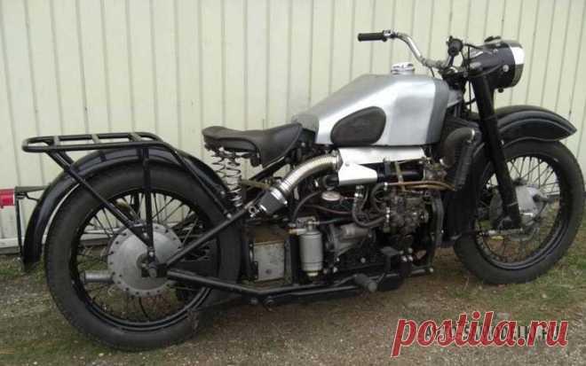 Дизельный мотоцикл на базе К-750: фото и описание Приветствую! Перед вами радикальная переделка оппозитного мотоцикла К-750. Далее фото и описание..
