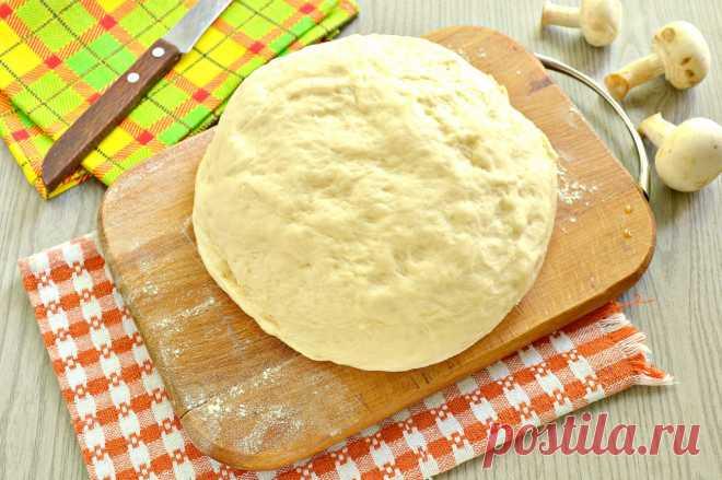 Быстрое дрожжевое тесто на воде для пирожков