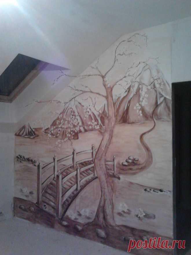роспись по барельефу