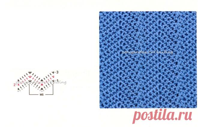 Красивые узоры крючком для пуловеров, кардиганов со схемами и видео | Красивое и интересное вязание | Яндекс Дзен