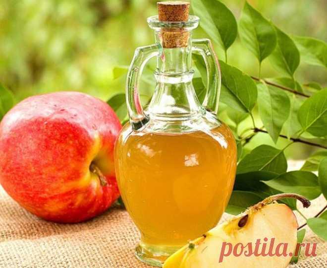 Применение яблочного уксуса в лечении и быту