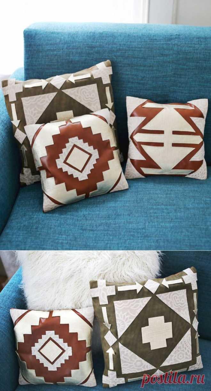 Кожаные подушки / Подушки / Модный сайт о стильной переделке одежды и интерьера