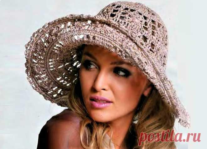 2 красивые летние шляпы, связанные крючком (с описанием и схемами) | Идеи рукоделия | Яндекс Дзен