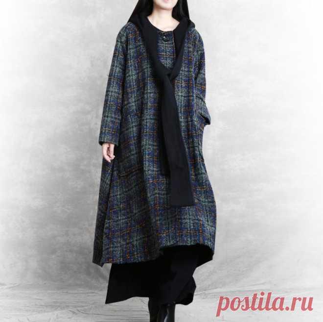 Winter Hooded wool coat womens overcoat Oversized Wool coat | Etsy