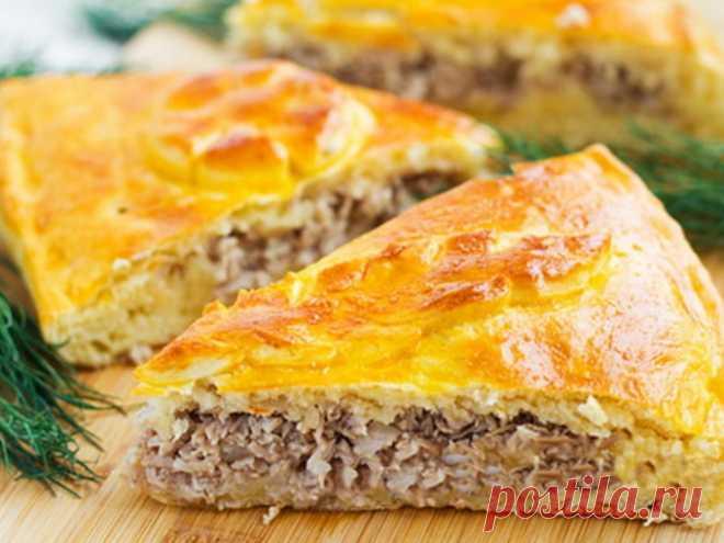 Национальный чувашский мясной пирог Хуплу