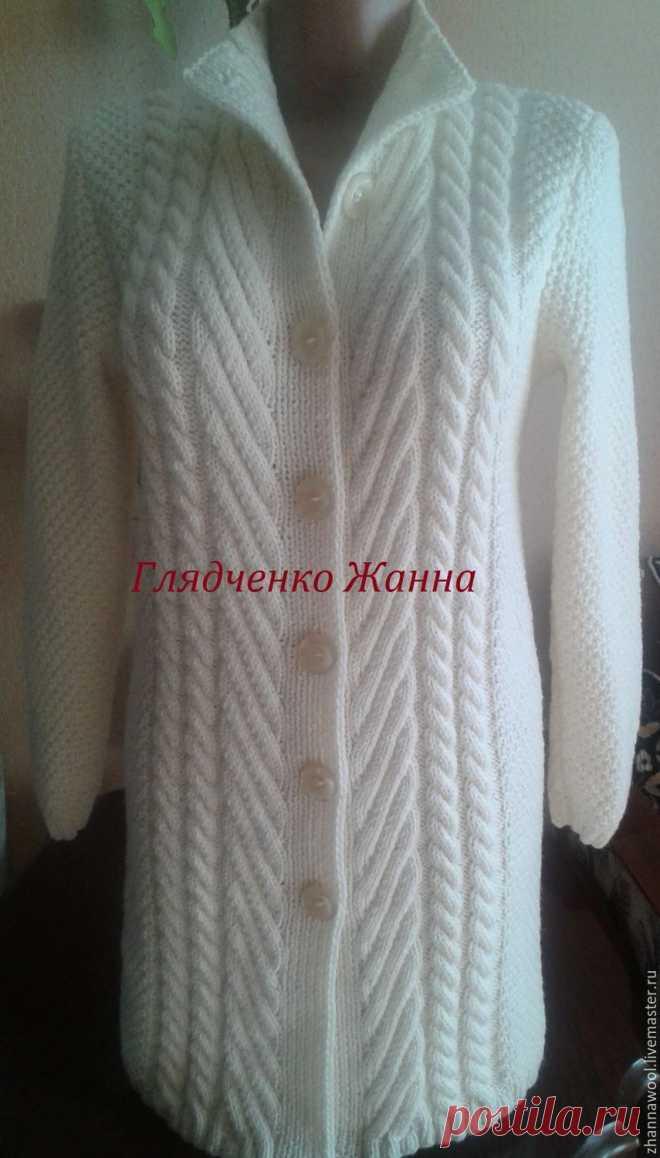 fcead38ec920 Кофты и свитера ручной работы. Ярмарка Мастеров - ручная работа. Купить  Белый кардиган.