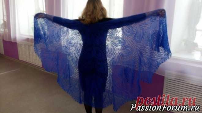 Шаль Лира - запись пользователя АннаГаврилюк в сообществе Вязание спицами в категории Вязание шали спицами