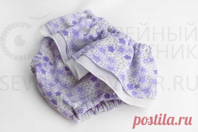 La costura de los calzoncillos Infantiles al pañal con los volantes, como coser por las manos - el patrón, las revocaciones, el foro \/ el Consejero De coser