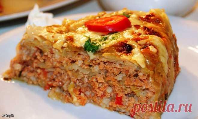 """Капустный пирог """"Ленивец"""" – кулинарный рецепт"""