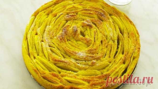 Яблочный пирог «Чайная роза». Легко, просто и красиво!