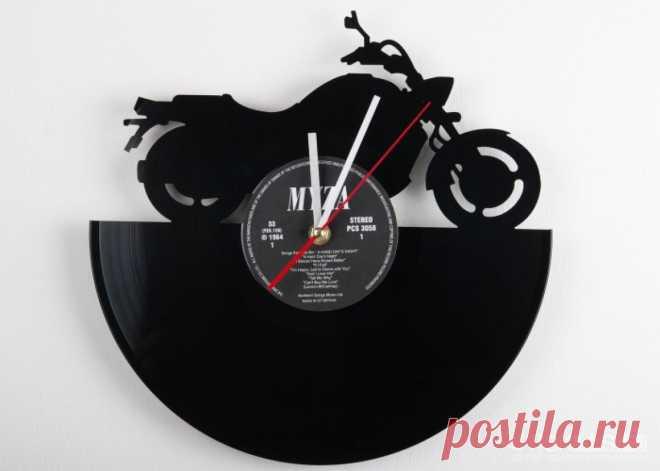 Часы из виниловой пластинки «Байк» купить подарок в ArtSkills: фото, цена, отзывы