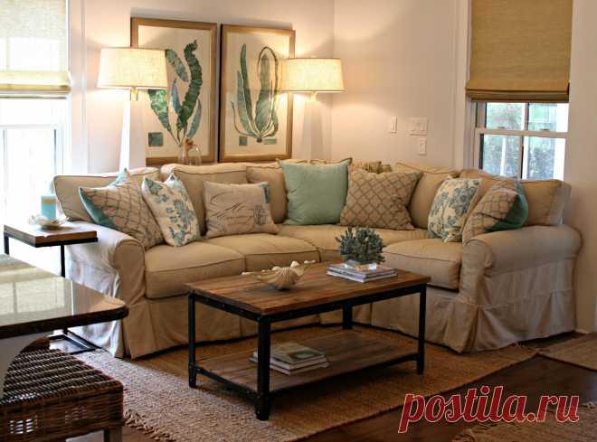 Коричнево-бежевые гостиные: дизайн интерьеров, 40 фото гостиных