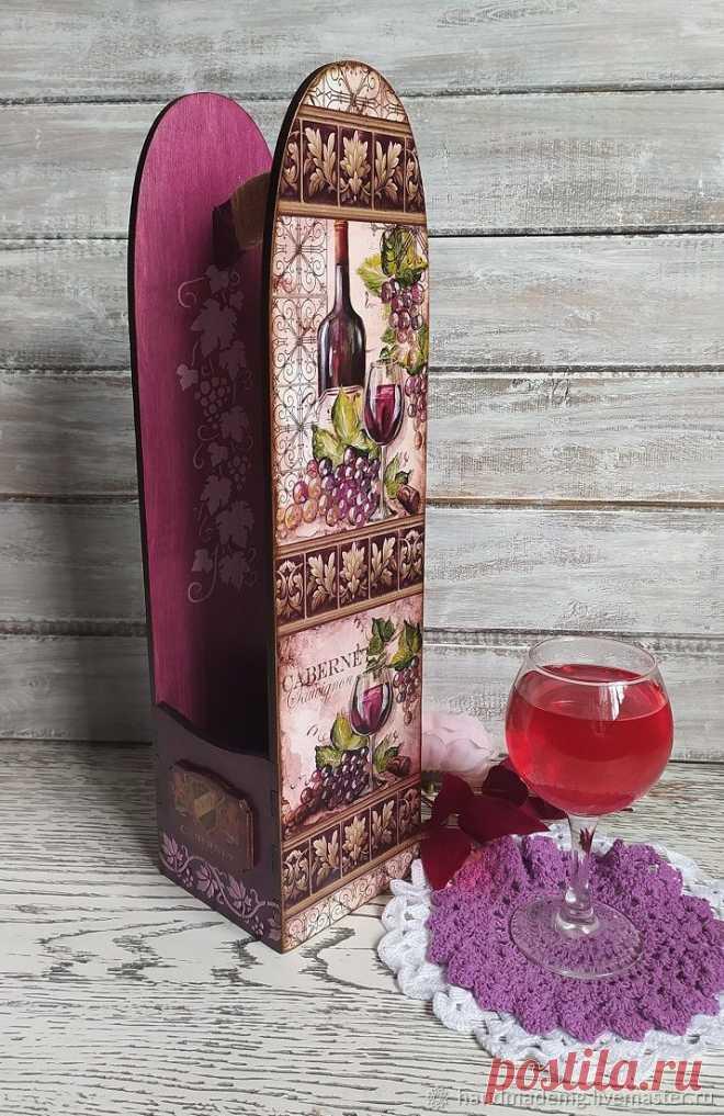 Подставки для бутылок  Виноградная лоза  – купить на Ярмарке Мастеров – OJ59KRU   Подставки для бутылок и бокалов, Москва Подставки для бутылок  Виноградная лоза . в интернет-магазине на Ярмарке Мастеров. Деревянный винный короб - красивая и оригинальная упаковка для бутылки. В последующем будет служить полезным и красивым предметом интерьера для дома.