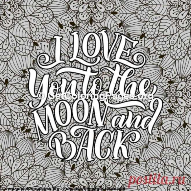 Love Lettering I You To The Moon