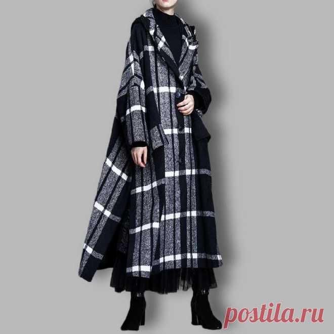 Black cloak woolen coat Women's winter Coat Hooded Wool   Etsy