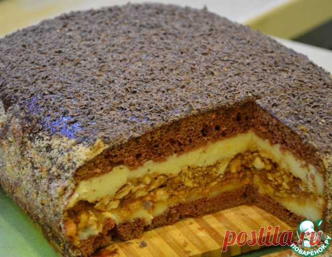 """Торт """"Сникерс"""" – кулинарный рецепт"""