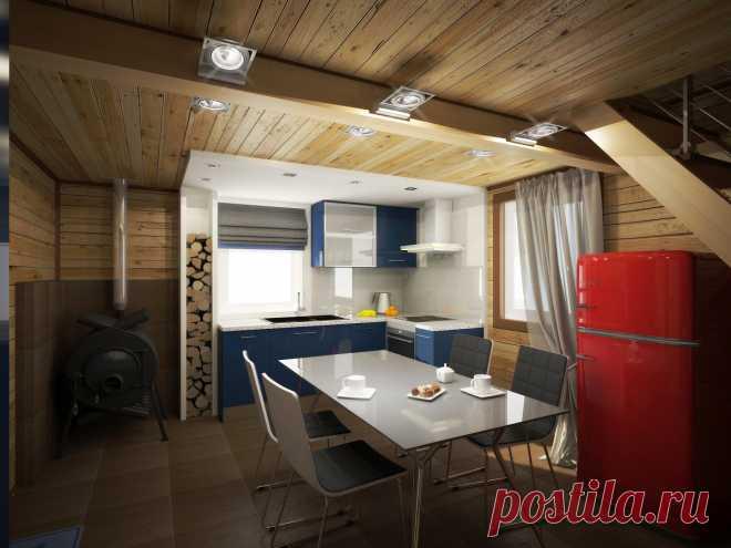 Стильный дачный домик площадью 51 метр — Roomble.com