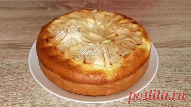Ленивый пирог с творогом и яблоками! Для домашнего чаепития!