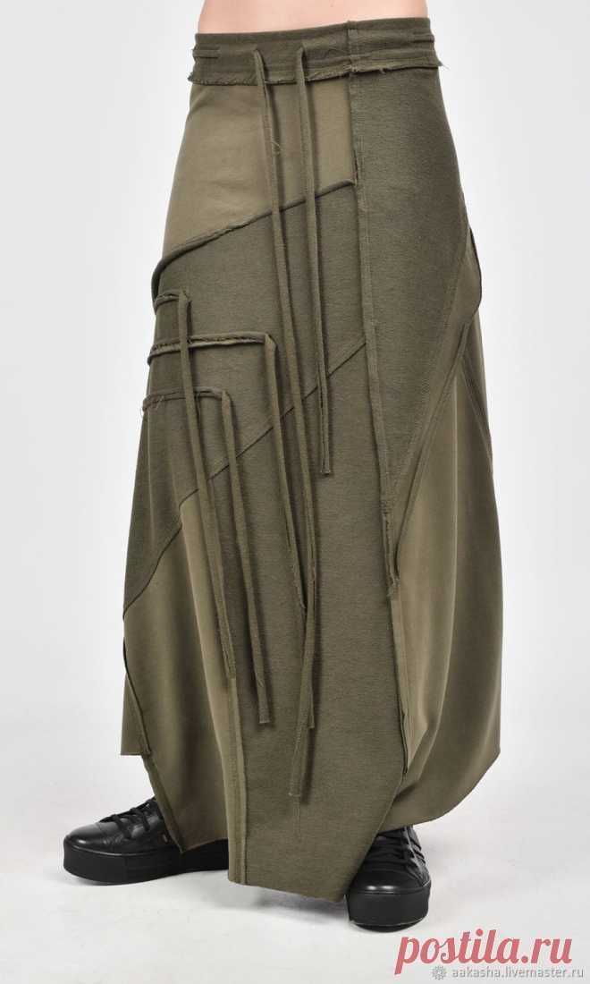 4b12847179e Длинная юбка Grunge A09385 – купить в интернет-магазине на Ярмарке Мастеров  с доставкой Длинная
