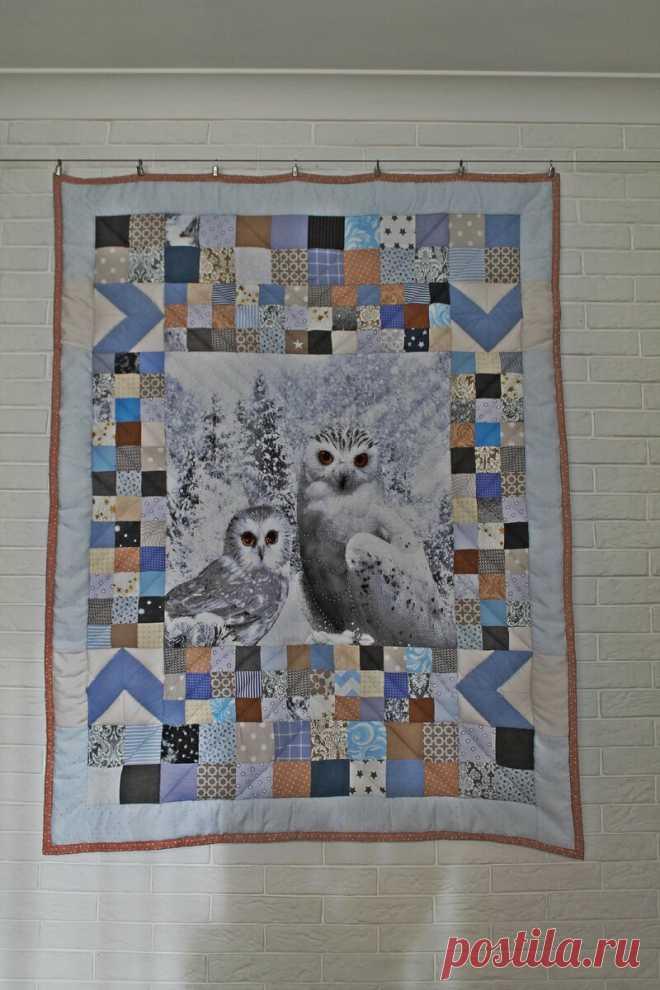 Мои лоскутные одеяла про совушек. Часть 2. | Жизнь как чудо | Яндекс Дзен