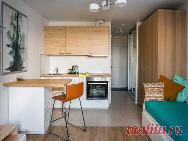 Готовое решение: бюджетный стильный интерьер студии площадью 21 м² | Architect Guide | Яндекс Дзен