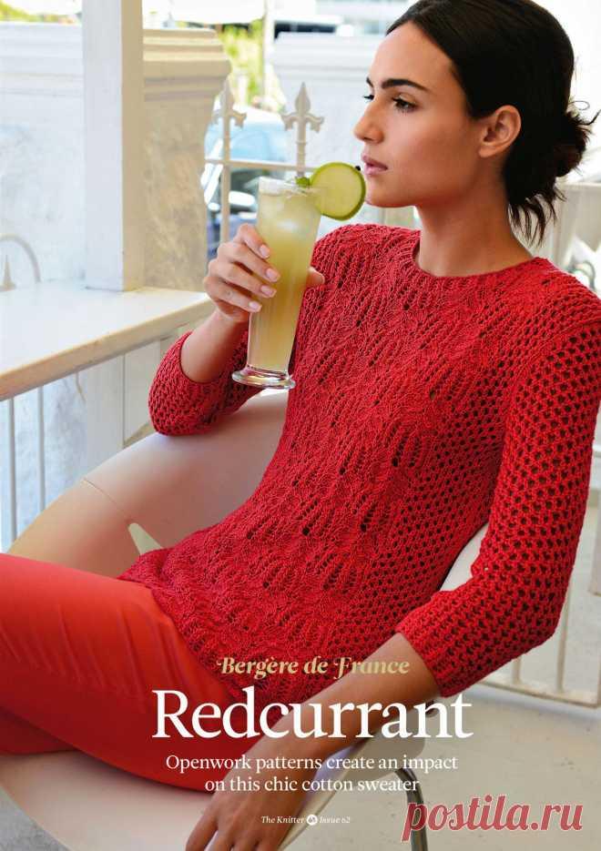 Вязание джемпера Redcurrant, The Knitter 62