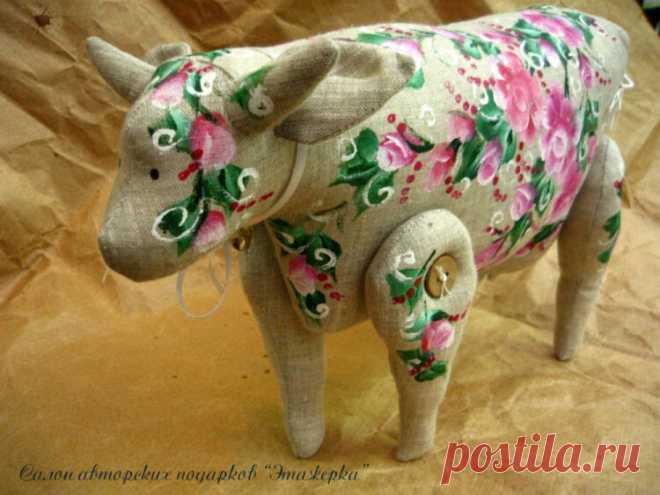 Рукодельные коровы и быки. Подборка самых симпатичных | Очаровашки | Яндекс Дзен