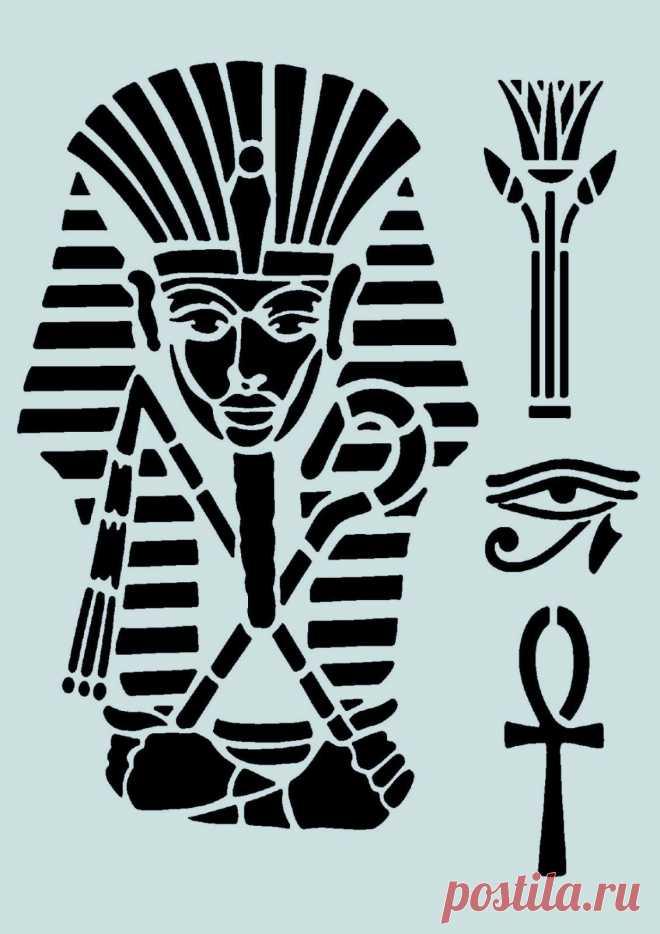 Schablone** - Motiv-Ägypten - **A4****für Stoffe, Möbel usw.- ** Nr.: 924 | eBay