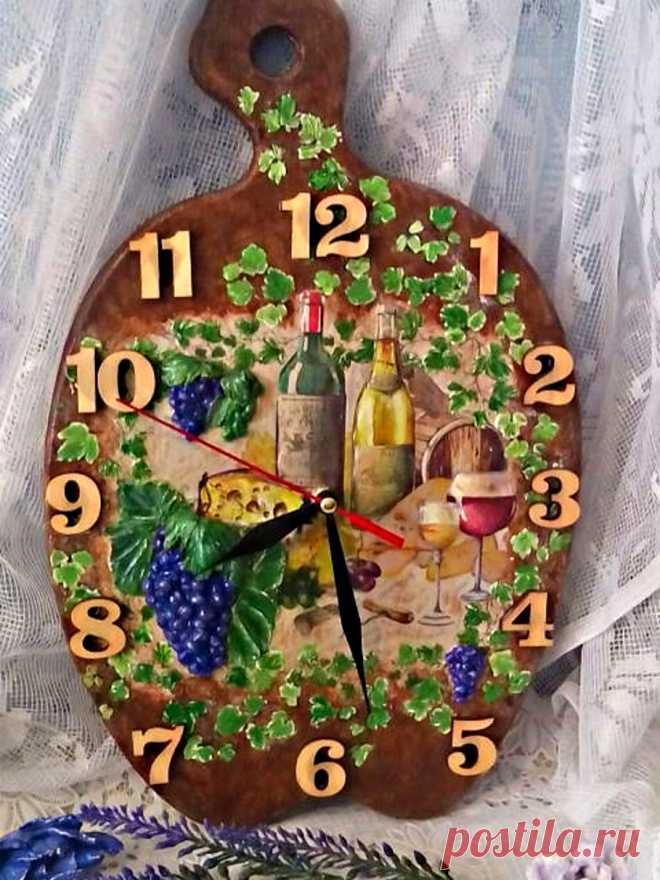 часы ручной работы для кухни
