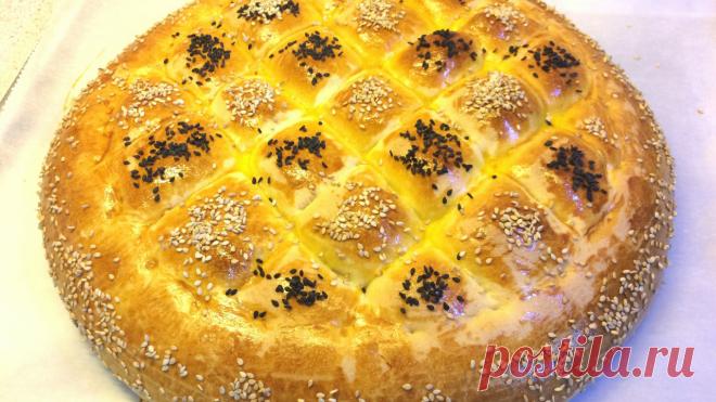 Молочный хлеб Naan Sheermal.Персидская мягкая лепешка на  рамазан