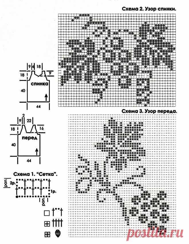 В'язання гачком схеми филейное - підбірка з 70 схем з описом