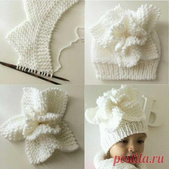 Объёмный цветок как украшение для детской шапочки