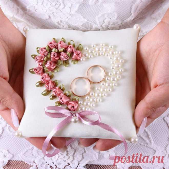 Свадебные подушечки для колец — интернет-магазин «Пион-декор»