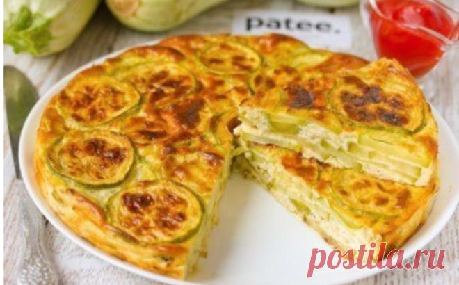 Овощной тортик — Запеканка из нежнейших кабачков