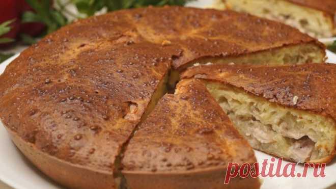 Ленивый пирог к ужину с очень вкусной начинкой!