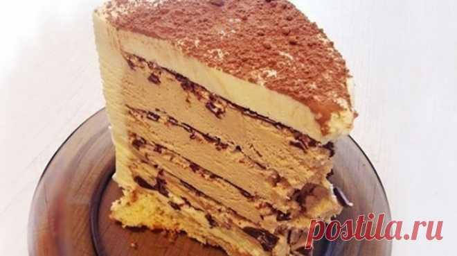 Торт «Кофе с шоколадом» готовится быстро и без духовки Всем любителям кофе очень рекомендую!
