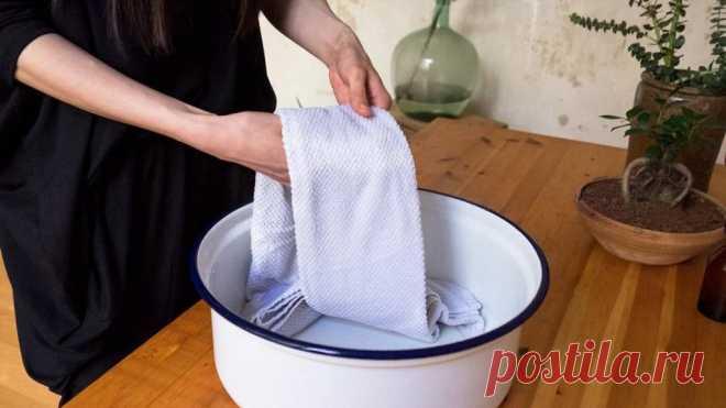 Отстирываю даже самые грязные кухонные полотенца всего за 15 минут. Делюсь своим секретом