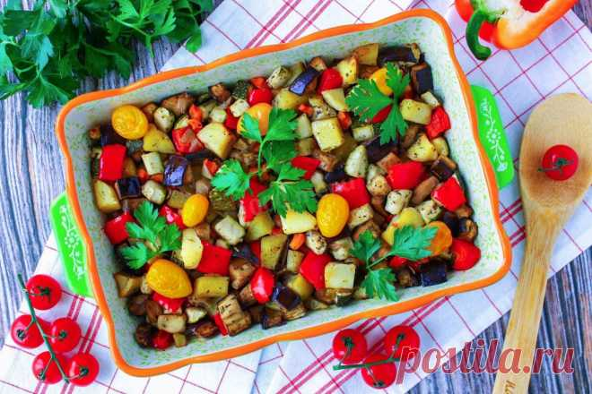 Овощное рагу с картошкой в духовке рецепт с фото пошагово - 1000.menu