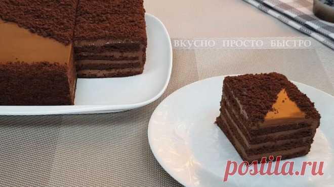 Без духовки на сковороде. Невероятно вкусный шоколадный торт Рижский   Вкусно Просто Быстро   Яндекс Дзен