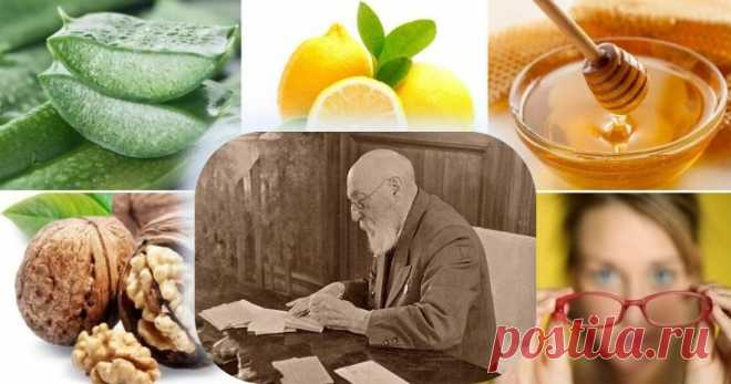 Как восстановить зрение: лечебный рецепт академика Филатова