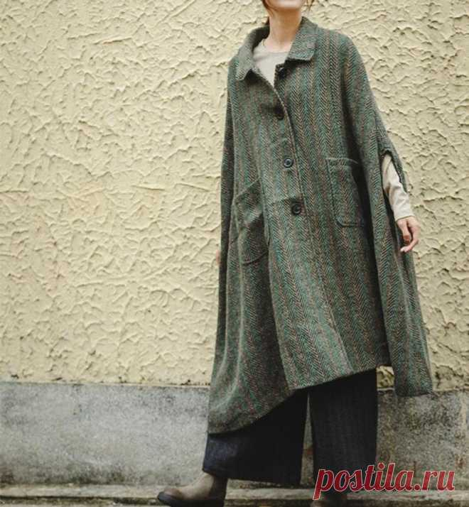 Women Cloak Coat oversized Wool Coat army green cloak | Etsy