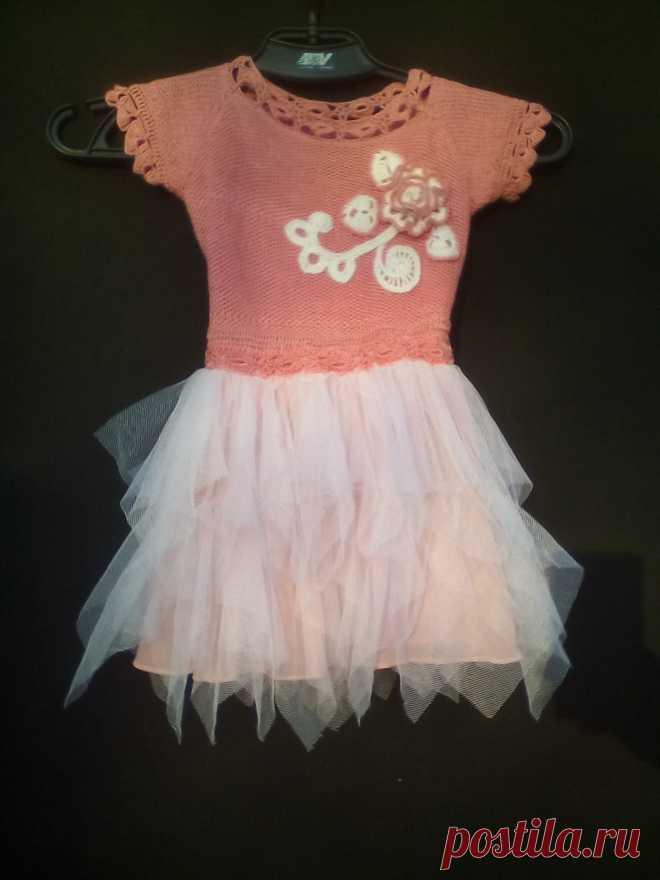 летнее платье для девочки 3-х лет