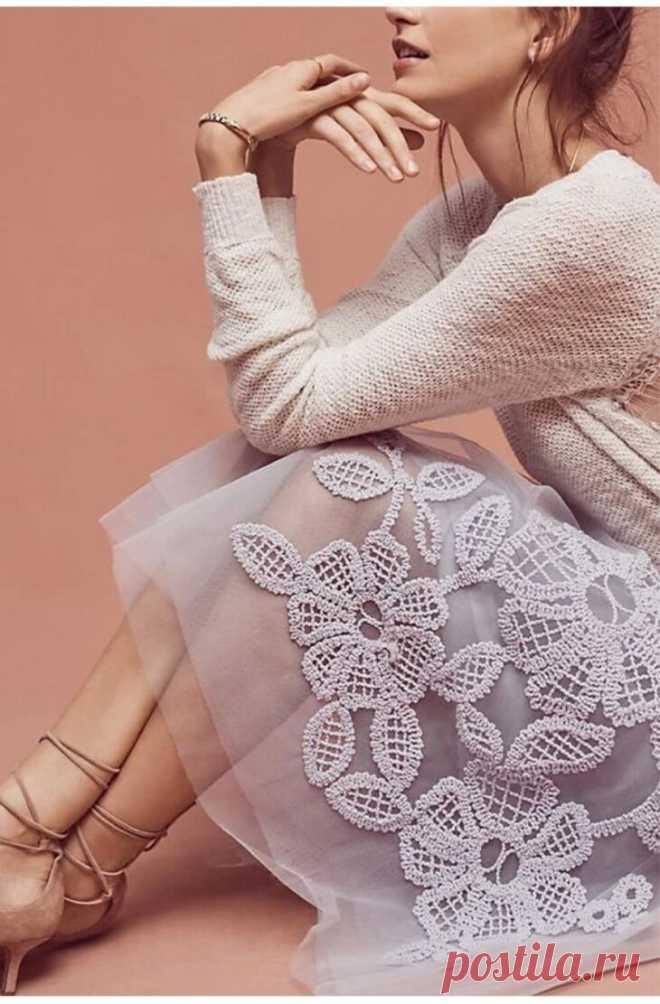 Невероятные сочетания ткани и вязания. Лучшие идеи для рукодельниц. | МАМИНО СЧАСТЬЕ | Яндекс Дзен